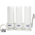Countertop Water Filter with Three Replaceable Cartridges