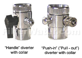 diverter valves with collar